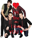 I'm fine ΑND I love YOU ♥ - Personalised Poster small