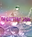 I'm quitting soon - Personalised Poster large