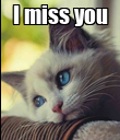 I miss you  - Personalised Poster large