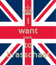 I want back to brasschaat - Personalised Poster large