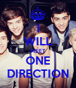 I WILL MEET ONE DIRECTION - Personalised Poster large
