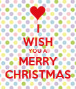 I WISH YOU A MERRY CHRISTMAS - Personalised Poster large