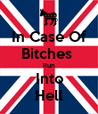 In Case Of Bitches  Run Into Hell - Personalised Poster large