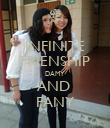 INFINITE FRIENSHIP DAMY AND  FANY - Personalised Poster large