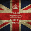 INSERT INSPIRING yadda yadda yadda MOTTO HERE - Personalised Large Wall Decal