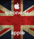 iphone 4s       apple  - Personalised Poster large