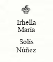 Irhella María  Solís Núñez - Personalised Large Wall Decal