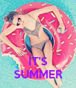 IT'S SUMMER - Personalised Poster large