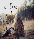 Its Time For A New Adventure - Personalised Poster large