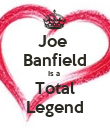 Joe  Banfield Is a  Total Legend - Personalised Poster large