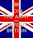 JOIN THE ARMY AND DEFEND BRITION - Personalised Poster large