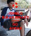 JOMBLO BUKAN BERARTI SENDIRI GO  AHEAD - Personalised Poster large
