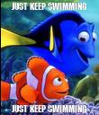 JUST KEEP SWIMMING JUST KEEP SWIMMING - Personalised Poster large