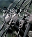 just like the  battle of  troy    - Personalised Poster large
