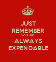 JUST REMEMBER YOU ARE ALWAYS EXPENDABLE - Personalised Poster large