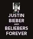 JUSTIN BIEBER AND BELIEBERS FOREVER - Personalised Poster large