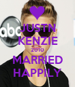 JUSTN KENZIE 2010 MARRIED HAPPILY - Personalised Poster large