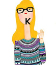 K     - Personalised Poster large