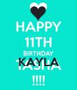 KAYLA  - Personalised Poster large