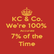 KC & Co. We're 100%  Accurate 7% of the Time - Personalised Poster large