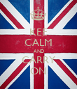 KEE CALM AND CARRY ON - Personalised Poster large