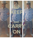 KEEP  AND CARRY ON - Personalised Poster large