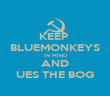 KEEP  BLUEMONKEYS IN MIND AND UES THE BOG - Personalised Poster large