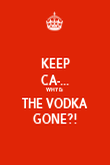 KEEP CA-... WHY IS THE VODKA GONE?! - Personalised Poster large
