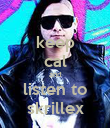 keep cal and listen to skrillex - Personalised Poster small