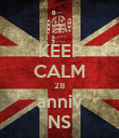 KEEP CALM 28 anniv NS - Personalised Poster large