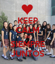KEEP CALM 3D SIEMPRE JUNTOS - Personalised Poster large