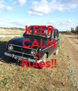 KEEP CALM 4L Rules!!  - Personalised Poster large