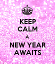 KEEP CALM A NEW YEAR AWAITS - Personalised Poster large