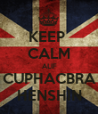 KEEP  CALM ALIF CUPHACBRA HENSHIN - Personalised Poster large