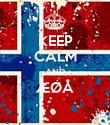 KEEP CALM AND ÆØÅ  - Personalised Poster large