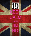 KEEP CALM AND 1D NO! - Personalised Poster large