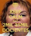 KEEP CALM AND 2MIL 35MIL DOCIENTES - Personalised Poster large