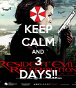 KEEP CALM AND 3 DAYS!! - Personalised Poster large