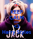 KEEP CALM AND <3 Harry Styles - Personalised Poster large