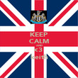 KEEP CALM AND <3  keith - Personalised Poster large
