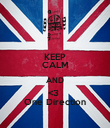 KEEP CALM AND <3  One Direction - Personalised Poster large