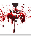 KEEP CALM AND  .......  - Personalised Poster large