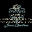KEEP CALM AND A LA MIERDA LA PUTA CALMA ESTOY VIENDO A MIS JONAs - Personalised Poster large