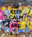 KEEP CALM AND ABC  - Personalised Poster large