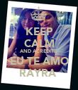 KEEP CALM AND ACREDITE  EU TE AMO RAYRA  - Personalised Poster large