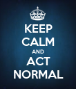 KEEP CALM AND ACT NORMAL - Personalised Poster large