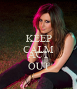 KEEP CALM AND ACT OUT - Personalised Poster large