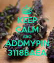 KEEP CALM AND ADDMYPIN 3118BAEA - Personalised Poster large