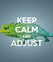 KEEP CALM AND ADJUST  - Personalised Large Wall Decal
