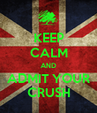 KEEP CALM AND ADMIT YOUR CRUSH - Personalised Poster large